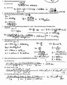 density worksheet with answers calculate density