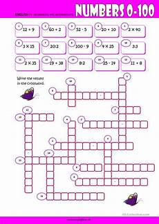 numbers 0 100 crossword english esl worksheets for distance learning and physical classrooms