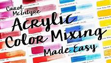 acrylic color mixing made easy painting class bluprint
