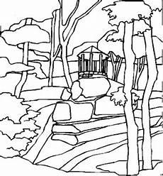 Malvorlagen Landschaften Gratis Pavillon Ausmalbild Malvorlage Landschaften