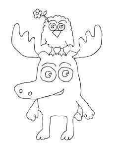 coloring pages to print 17540 zee is standing on moose a moose s coloring page supercoloring