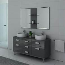 meuble de salle de bain gris taupe meuble 2 vasques