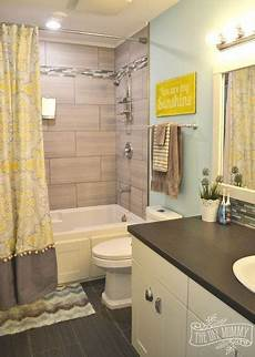 Small Bathroom Ideas Yellow by A Happy Yellow Aqua Bathroom Bathroom Ideas Home