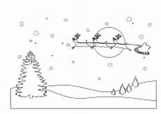 Malvorlage Rentierschlitten Ausmalbilder Zu Weihnachten Weihnachtsmann Nikolaus Und