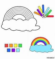 komputer ando malvorlagen regenbogen am himmel