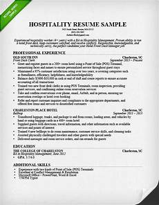 use our hospitality resume sle to learn how to write a