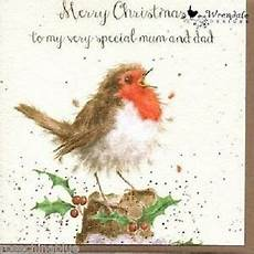 wrendale designs christmas card new robin merry christmas special dad ebay