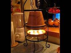 terracotta candle heater