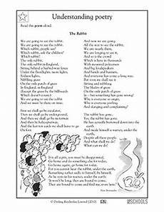 4th grade poetry reading comprehension worksheets 25454 4th grade reading writing worksheets poems the rabbit 4th grade reading worksheets reading
