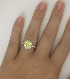 diamond halo 3 carat yellow sapphire engagement ring in