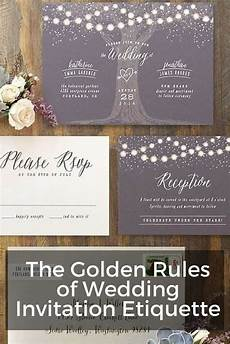 Wedding Etiquette For Invitations the golden of wedding invitation etiquette wording