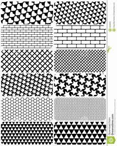 vektorset grafische muster vektor abbildung illustration