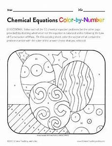 color by number systems of equations worksheet 16138 chemical equations color by number teks 8 5f by science teaching junkie inc