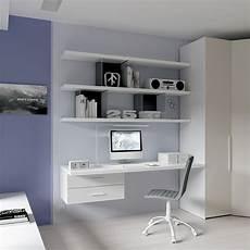 parete con mensole scrivania sr10 spessore 40mm in frassino bianco wallbox