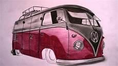 Vw Bulli Zeichnung Drawing Www Autozeichner