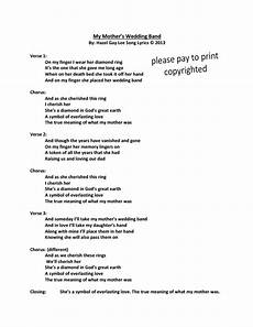 hazelgaylee my mother s wedding band song lyrics only passing a wedding band