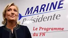 Marine Le Pen Les Mesures De Programme
