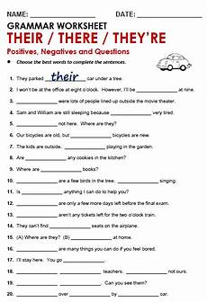 worksheets using their there they re their there they re all things grammar