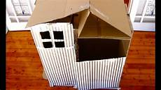 how to make a cardboard cubby house youtube