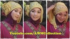 Cara Memakai Jilbab Pesta Segi Empat Modern By Revi Cara