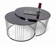 runde wohnzimmertische casa padrino luxus couchtisch set silber schwarz 2