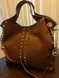 nwt michael kors uptown astor large leather studded