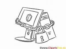 pc sicherheit bild clipart illustration schwarz wei 223 zum