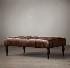 Rectangular Leather Ottoman Coffee Table 48 quot rectangular leather ottoman leather ottoman
