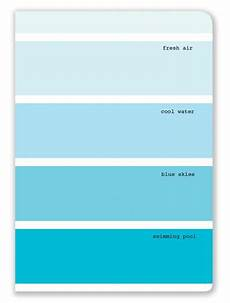 aqua color swatch journal with lined pages aqua paint