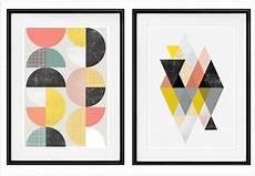 tableau geometrique moderne o 249 trouver des affiches g 233 om 233 triques style scandinave