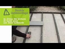 pose lame terrasse composite sur dalle beton tuto de pose ocewood poser une terrasse lambourde