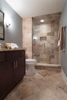 contemporary 3 4 bathroom with partial backsplash