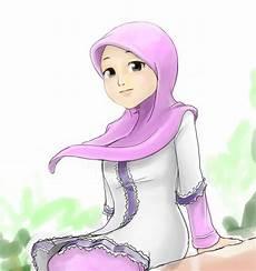 Kartun Gambar Muslimah Cantik