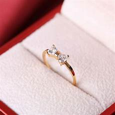 fashion womens crystal finger ring bow tie wedding engagement zircon ring size 8 ebay