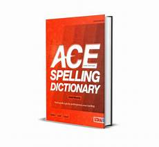 ace spelling dictionary worksheets 22366 ace spelling dictionary outside the box learning resources