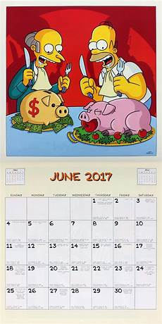 simpsons 2017 square calendar buy at grindstore