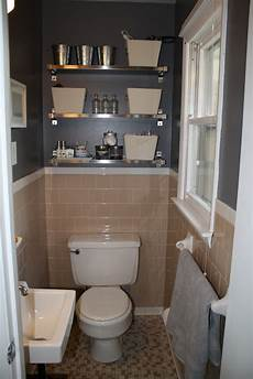 tile bathroom with grey walls plus fun shiny shelves in the bathroom ikea masculine in