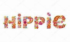 Lettre De Hippie Fleurs Image Vectorielle Antonovaolena