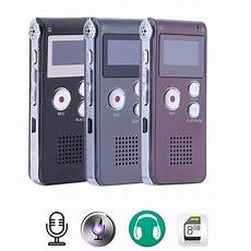 Mini Automatic Digital Audio Sound Voice by Rechargeable 8gb 650hr Digital Audio Sound Voice Recorder