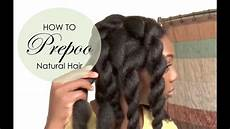 how to pre poo natural hair youtube