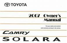 online auto repair manual 2007 toyota camry solara engine control 2007 toyota camry solara owners manual user guide reference operator book fuses ebay