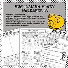 australian money worksheets by curious fox teachers pay teachers