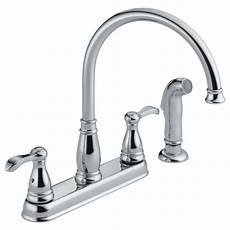 peerless kitchen faucet parts p99500lf two handle kitchen faucet with spray