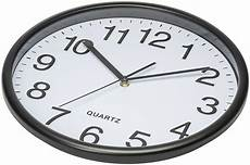 Wall Clock Hanging Silent Quartz Battery by Bernhard Products Black Wall Clock Large 13inch Silent Non