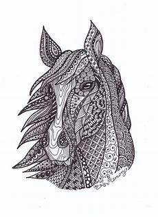 Ausmalbilder Tiere Schwierig Zentangle By Inhoff By Muveszhaz On Deviantart