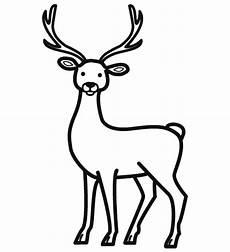cerf dessin facile dessin cerf et biche
