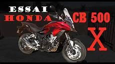 Fabike Essai Honda Cb 500 X Petit Trail Sans Pr 233 Tention