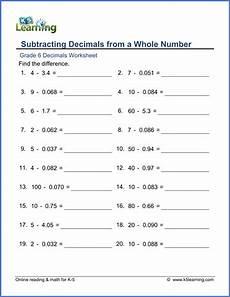 maths worksheets for grade 6 decimals cbse 7490 grade 6 decimal subtraction worksheet math grade 6 decimals worksheets grade 6 math