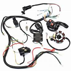 250cc wiring harness aliexpress buy complete wiring harness kit wire loom electrics stator coil cdi for atv
