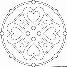 Vorlagen Herzen Malvorlagen Einfach Mandala Mit Herzen Herzform Mandala Ausmalen Mandala